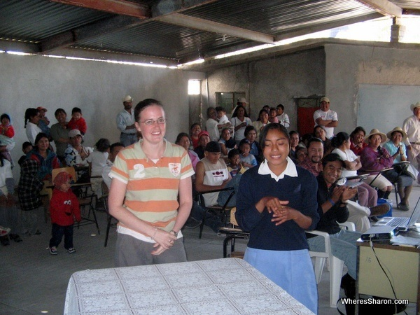 sponsor child and meeting of people in san andreas mexico