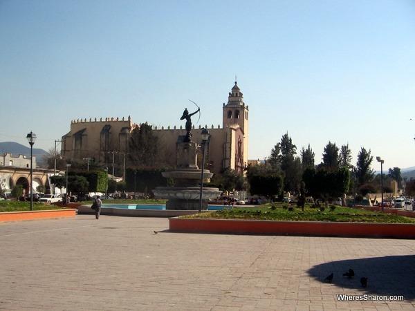 Main square in Ixmiquilpan