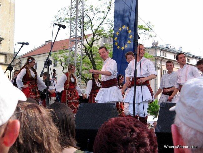Polish dancing in Krakow