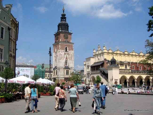Main Town Square in Krakow