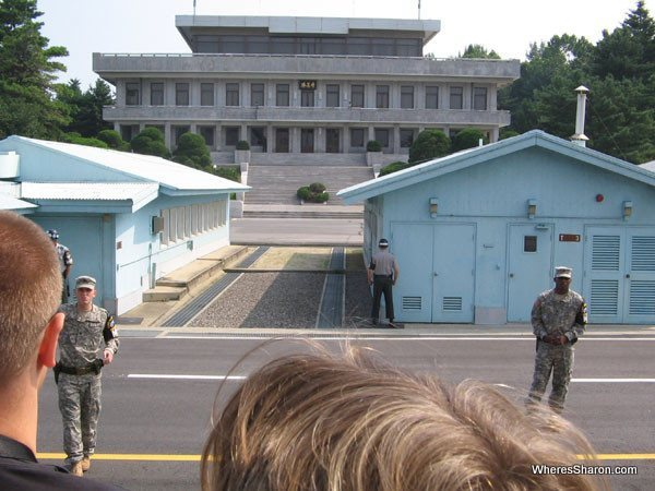 Panmunjom – Looking at North Korea at border