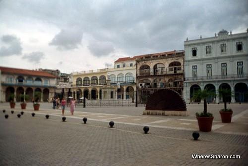 beautiful plaza vieja in old havana