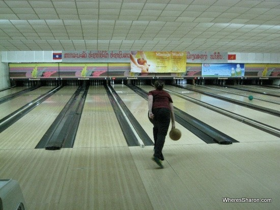 bowling alley in vientiane laos