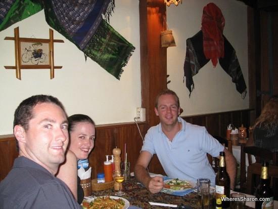 birthday dinner in Vientiane Laos
