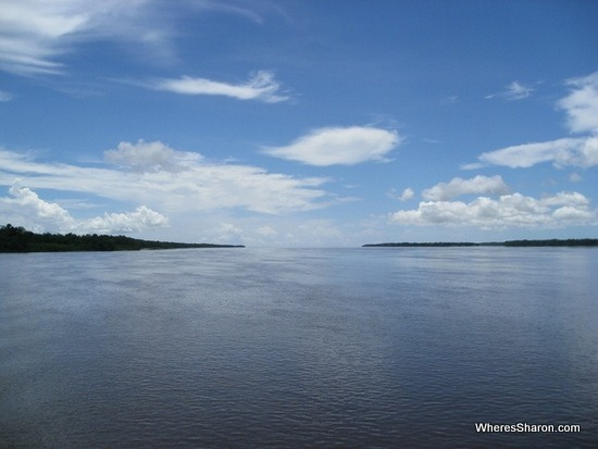 Mouth of Corentyne River at Suriname Guyana border