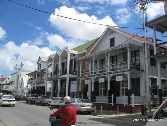 Streets of Paramaribo suriname