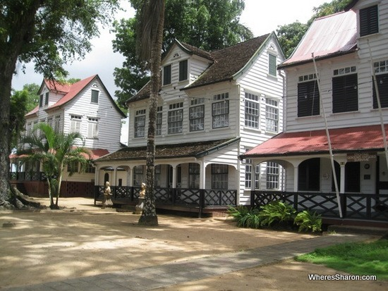 Buildings at Fort Zeelandia paramaribo