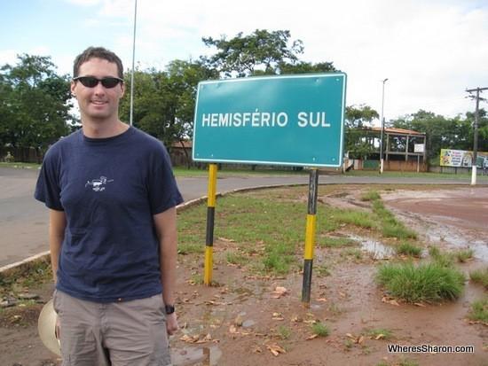 Southern hemisphere sign in macapa brazil