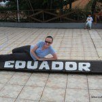 Lying on the Equator in Macapa, Brazil
