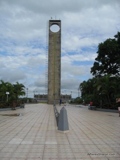 equator monument in Macapa Brazil