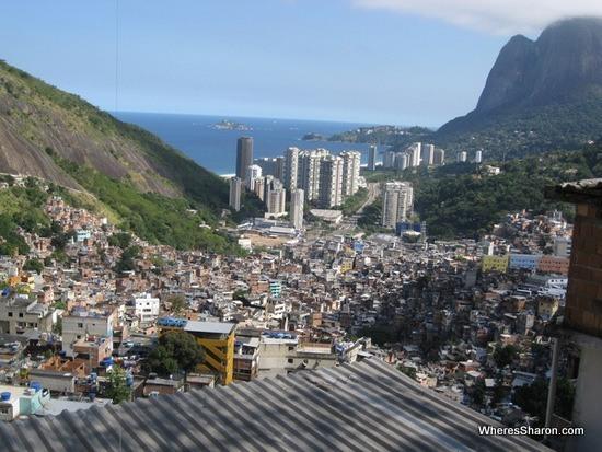 views from Rocinha favela in rio de janeiro