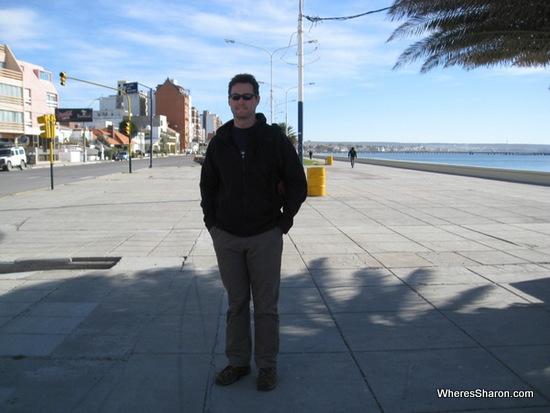 Beach boardwalk in puerto madryn