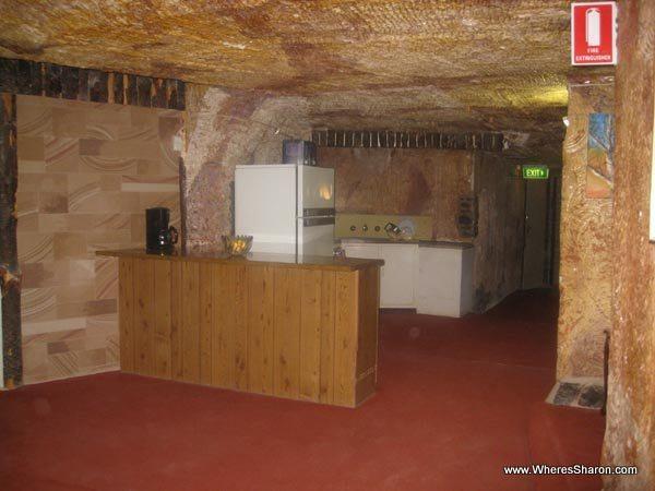 Underground home with kitchen in coober pedy