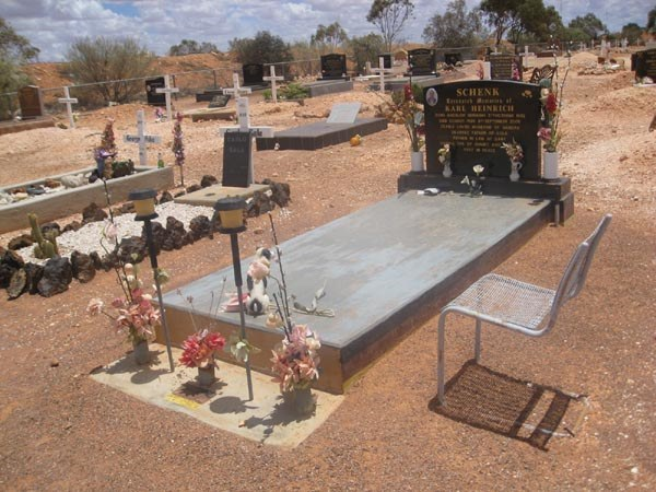 Cemetary in coober pedy