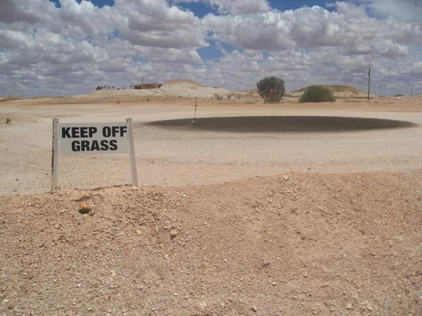 Desert golf course in coober pedy