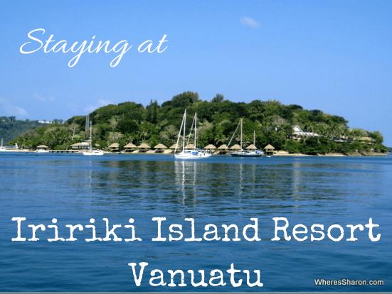 Staying at iririki island resort