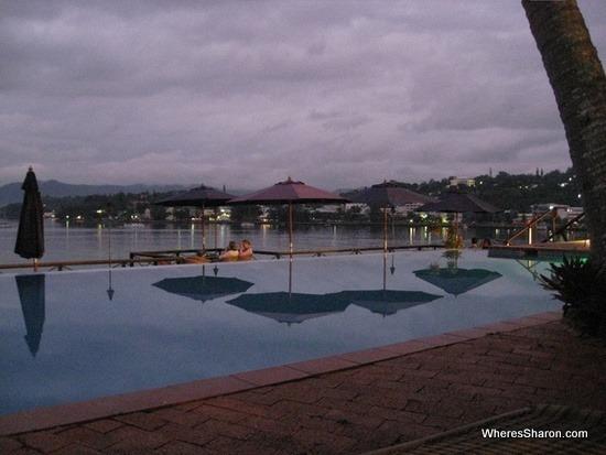Sunset views at iririki island resort