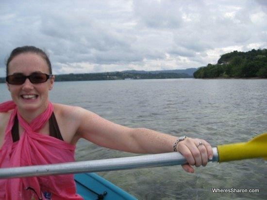 Kyaking around Iririki Island Resort Vanuatu