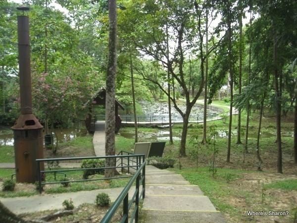the gardens in Sandakan War Memorial