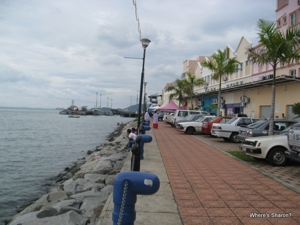 Waterfront in front of our hotel in sandakan