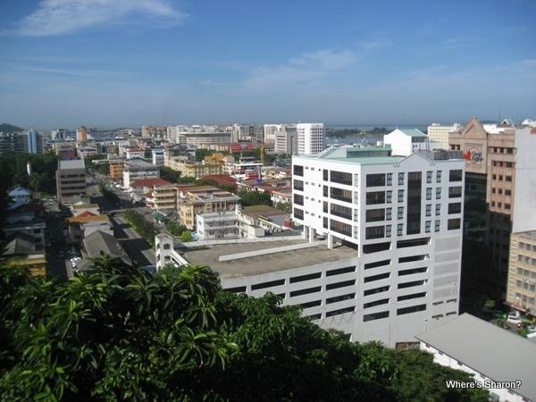 Views of Kota Kinabalu and water