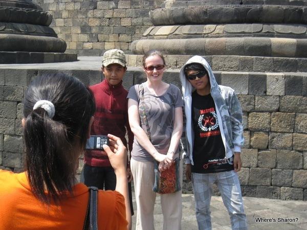 locals taking photos of us in Yogyakarta