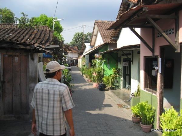 Streets in old area of Yogyakarta