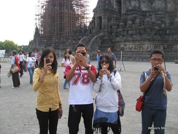 More people taking our picture at Prambanan yogyakarta