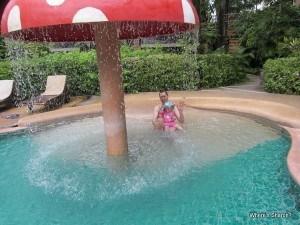 Toddler in pool at kata palm resort