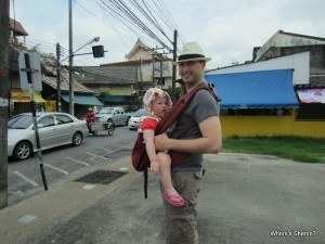 Exploring phuket town with a toddler in the ergo carrier