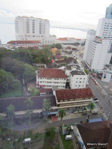 View from hotel window