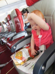 S enjoys the inflight magazine