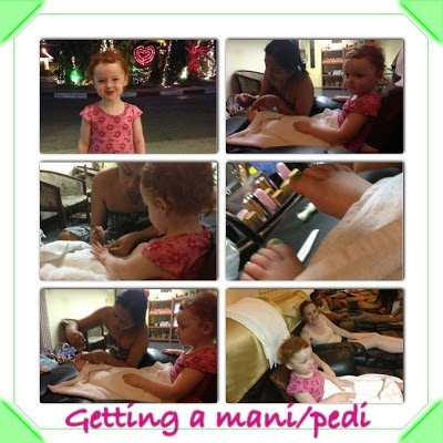 getting a manicure and pedicure in pattaya as a toddler