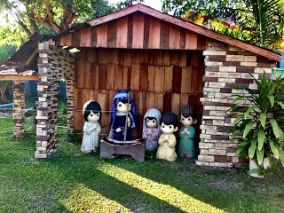 Nativity scene at Sampaguita Garden Resort New washington kalibo