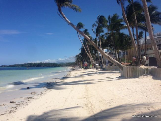 vacations boracay at the beach