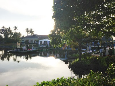 A wedding being held by lake at san antonio resort roxas city