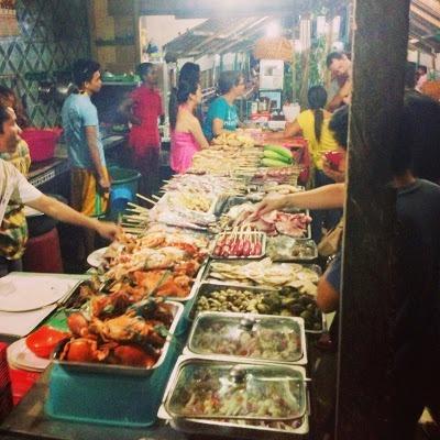 "One of many seafood ""shacks"" on baybay beach. yummy seafood"