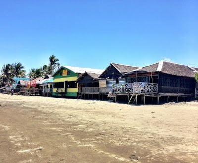"""shacks"" from the beach in baybay roxas city"