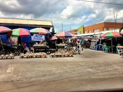 Market near the pier in Bacolod Philippines