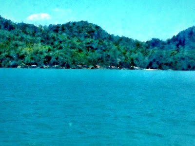 Views from sea of the island of Guimaras between iloilo and bacolod