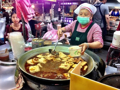 Raohe night market stall, Taipei