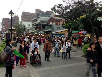 Waterfront area Danshui Taipei