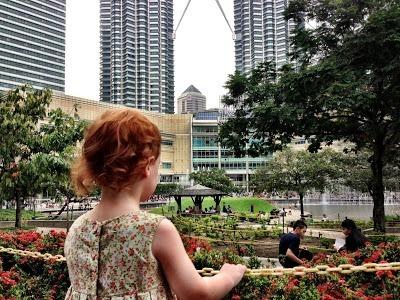 Suria and Petronas Towers with kids Kuala Lumpur