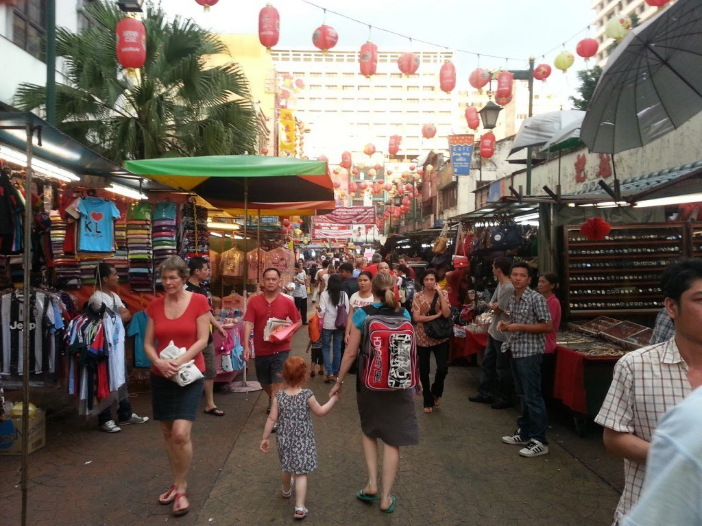 Exploring Chinatown, Kuala Lumpur with a toddler