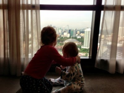 Looking out the window at Berjaya Times Square Hotel