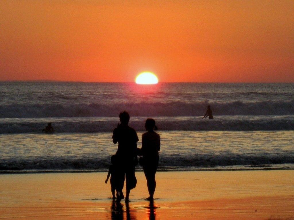 Sunset on Legian Beach, Bali