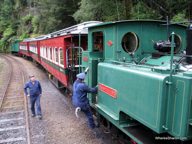 Travelling between Strahan and Queenstown on the West Coast Wilderness Railway
