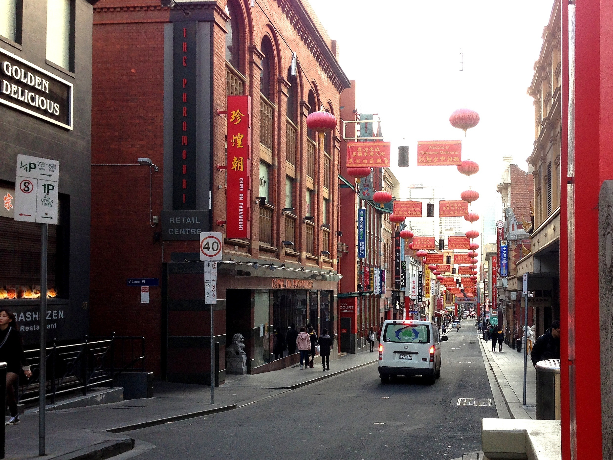 Little Bourke Street Chinatown view