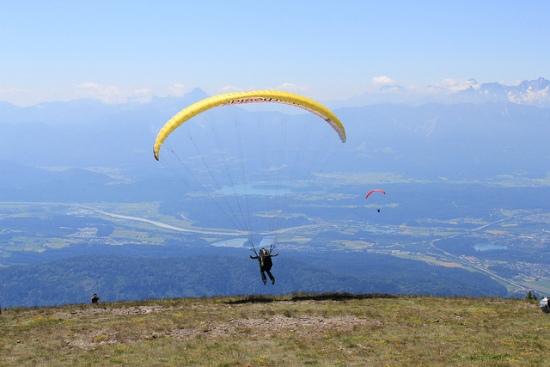 paragliding in La Cumbre