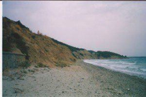 Anzac Cove beach and small cliff gallipoli